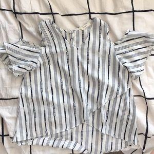 Girls cold shoulder blouse
